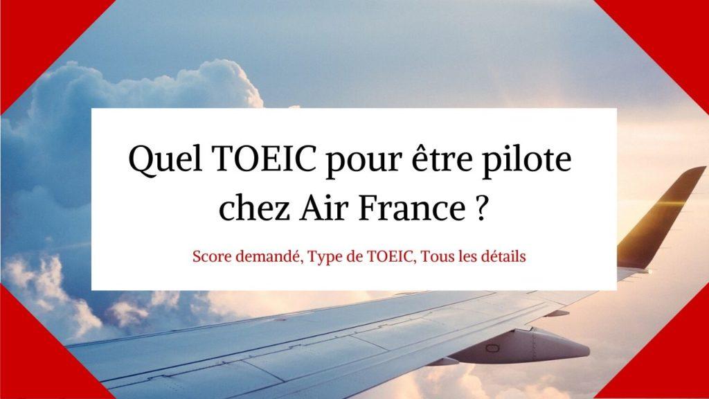 TOEIC pilote AIR FRANCE